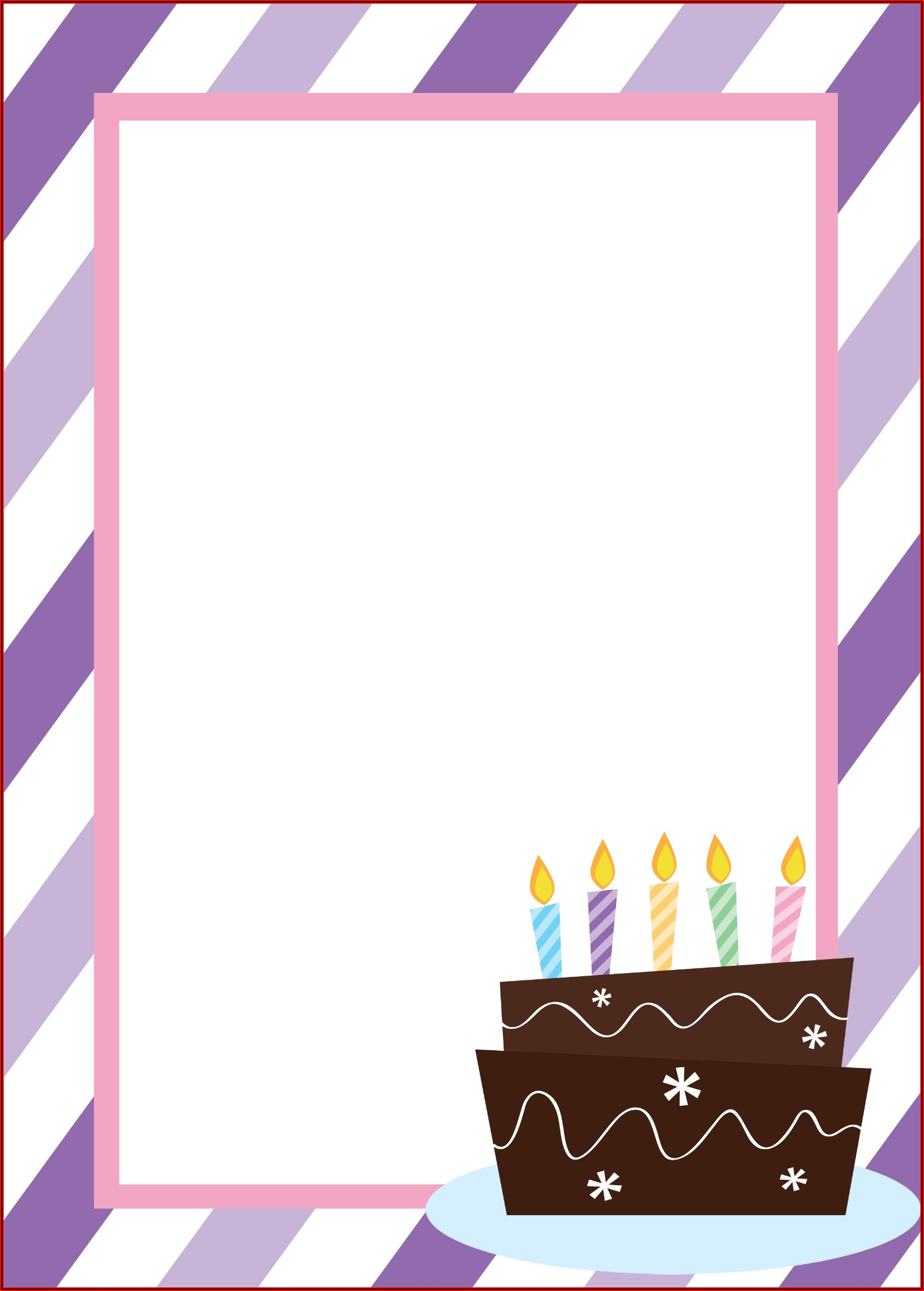 Free Printable Birthday Invitation Postcard Templates