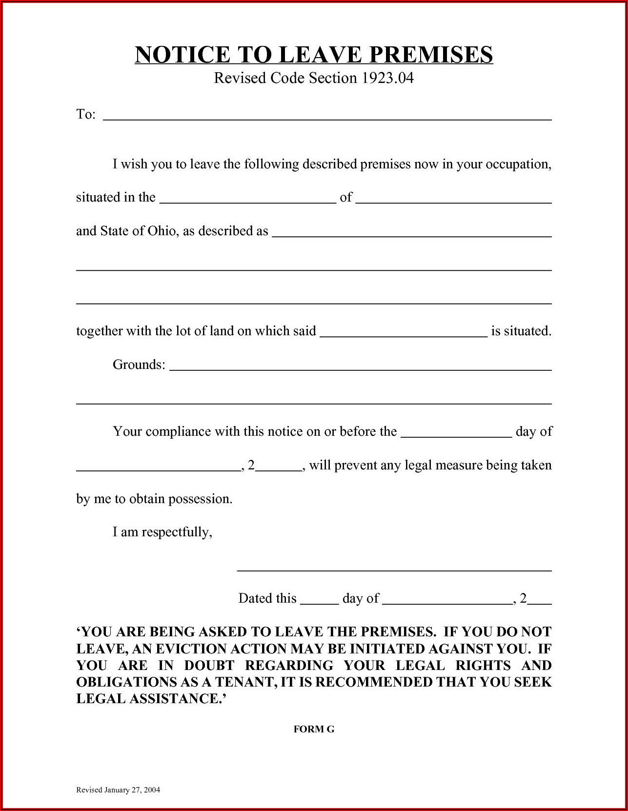 Free Printable Eviction Notice Template Florida