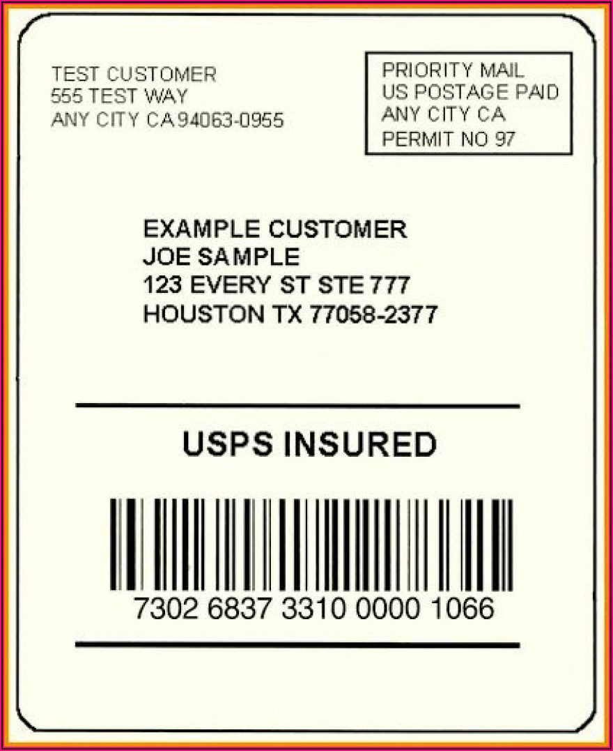Free Shipping Label Template
