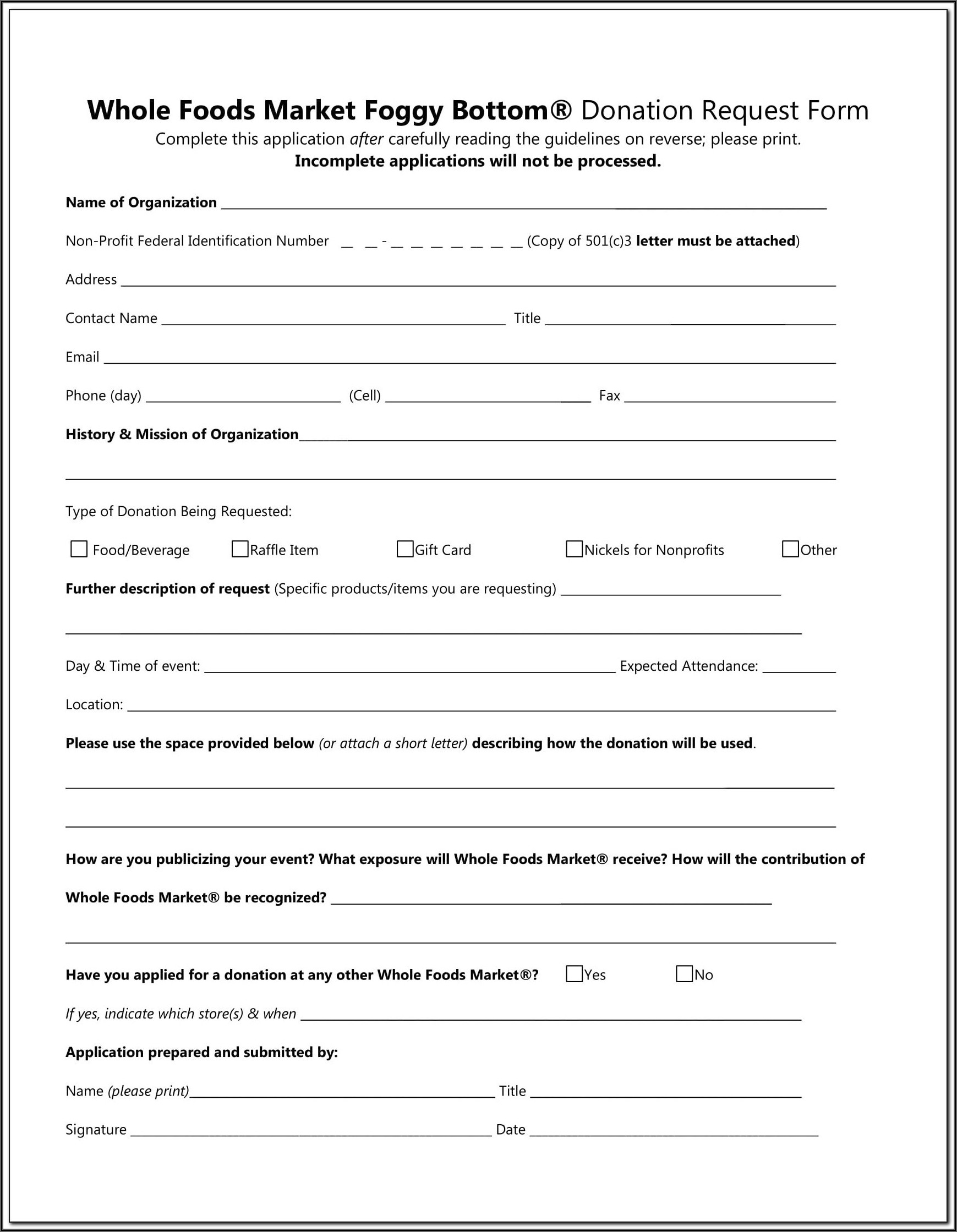 Goodwill Donation Value Forms