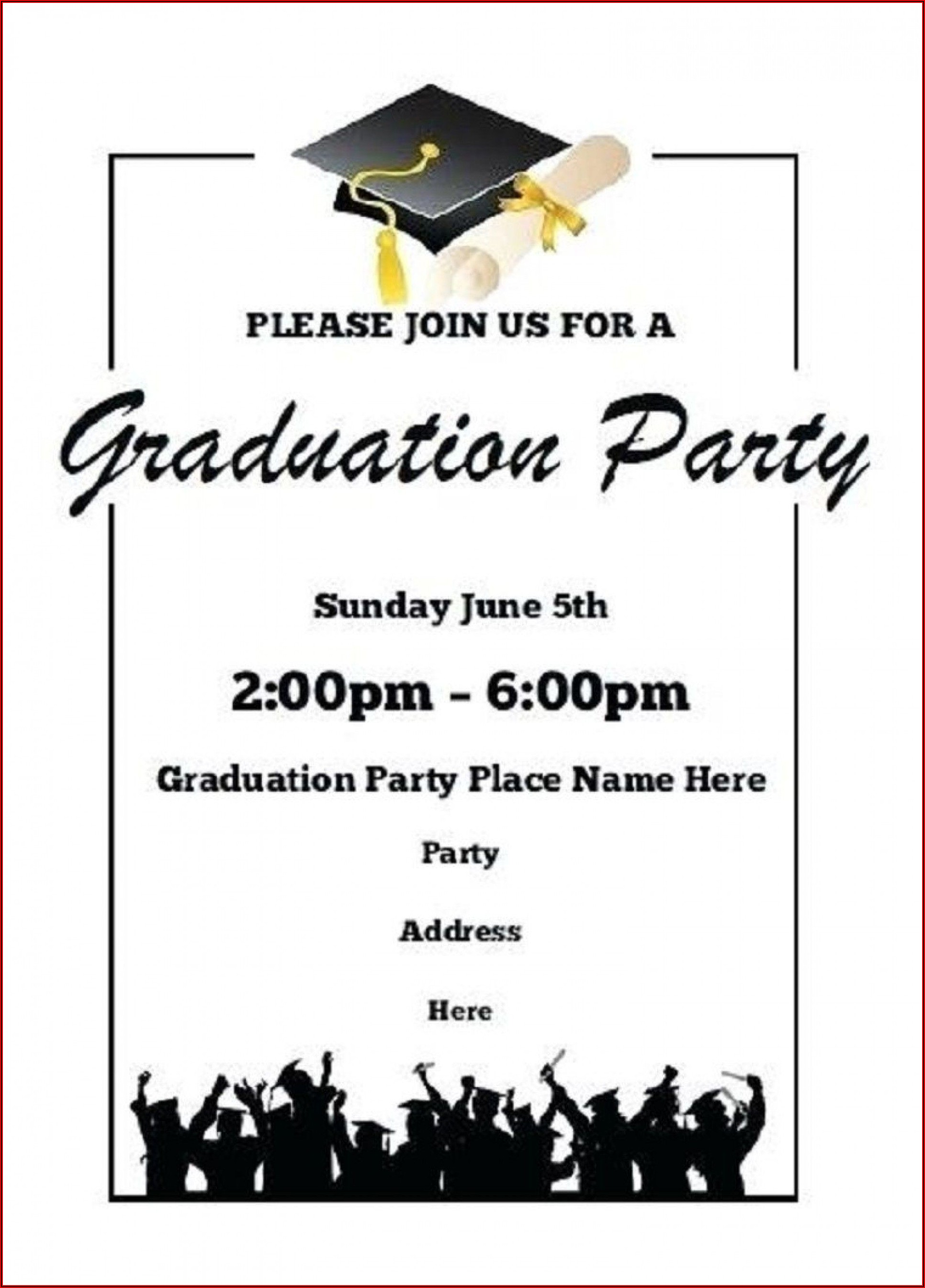 Graduation Party Invitation Templates Publisher