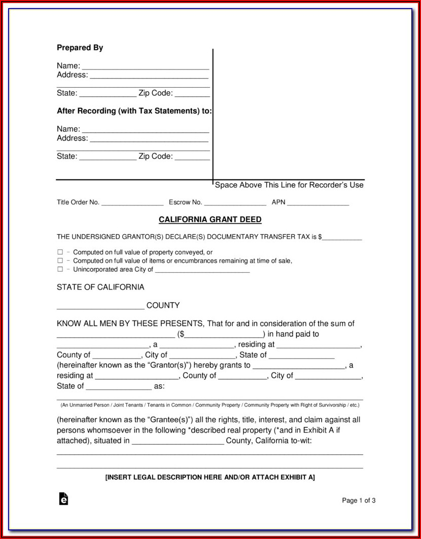 Grant Deed Template