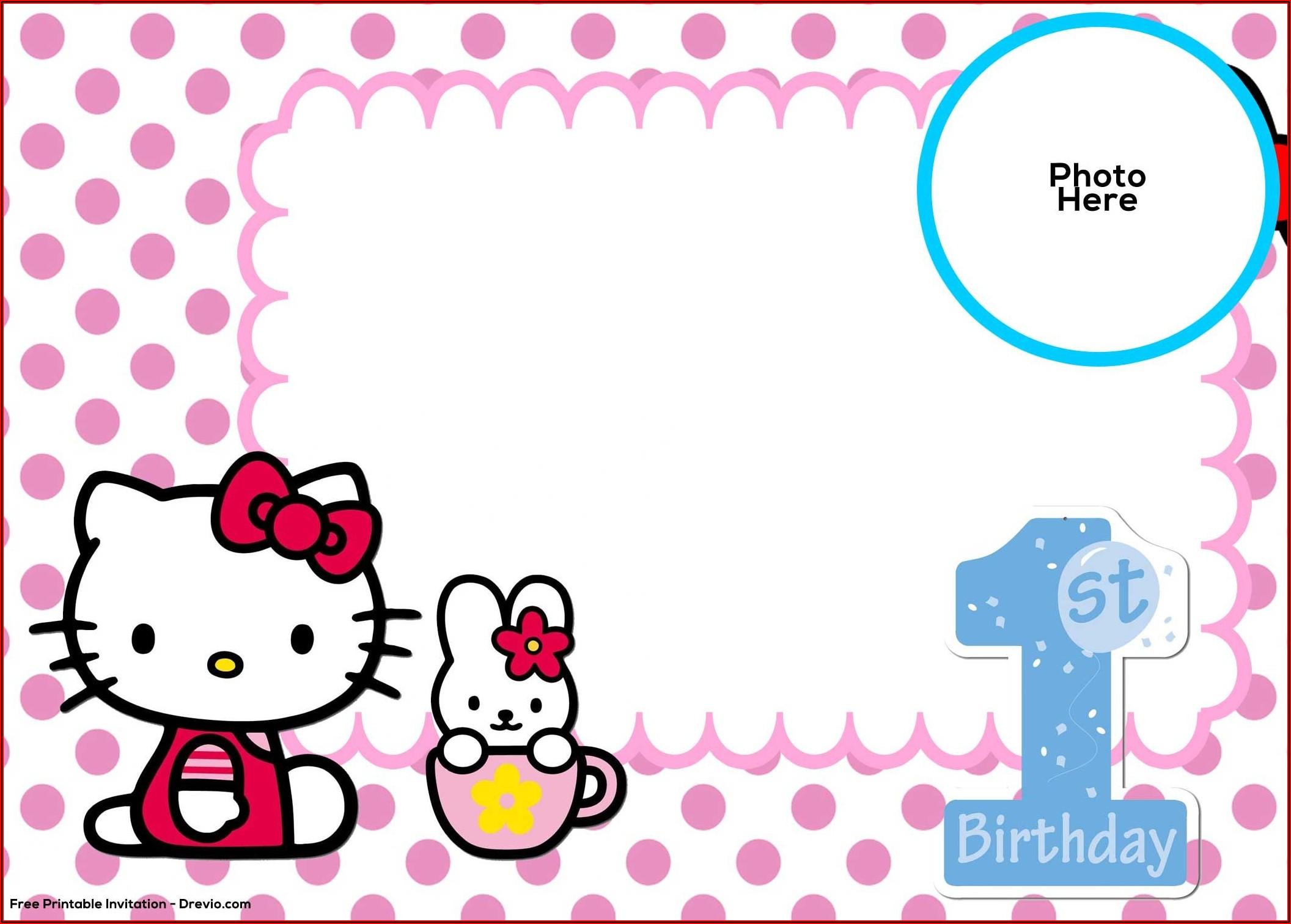 Hello Kitty Invitation Template Free