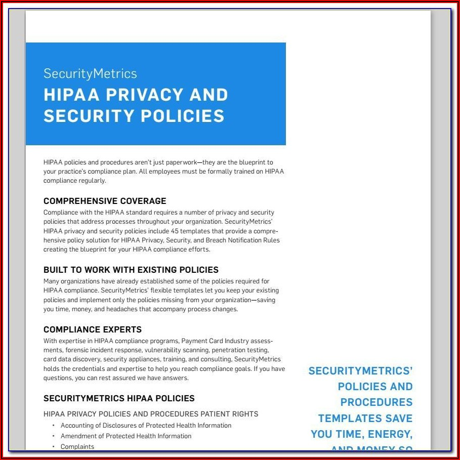 Hipaa Security Policy Examples