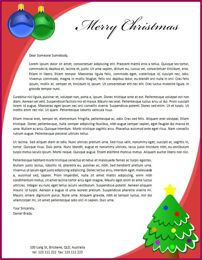 Holiday Stationery Templates Word
