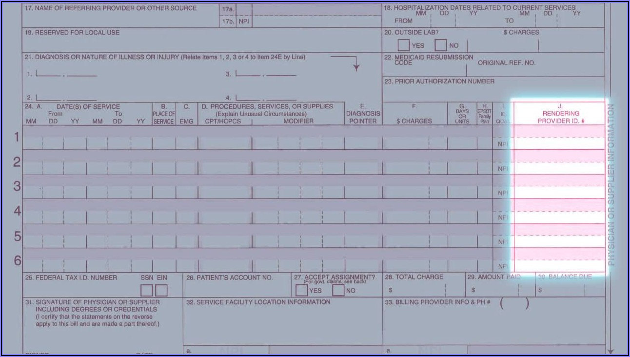 How Do I Fill Out A Cms 1500 Form For Medicare