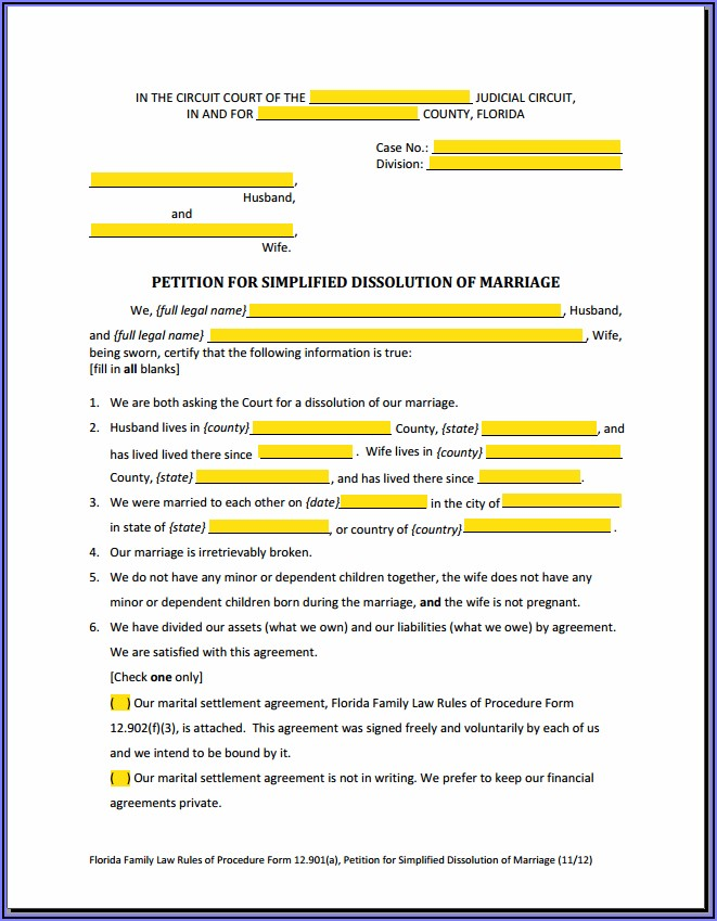 How To Fill Out Uncontested Divorce Forms
