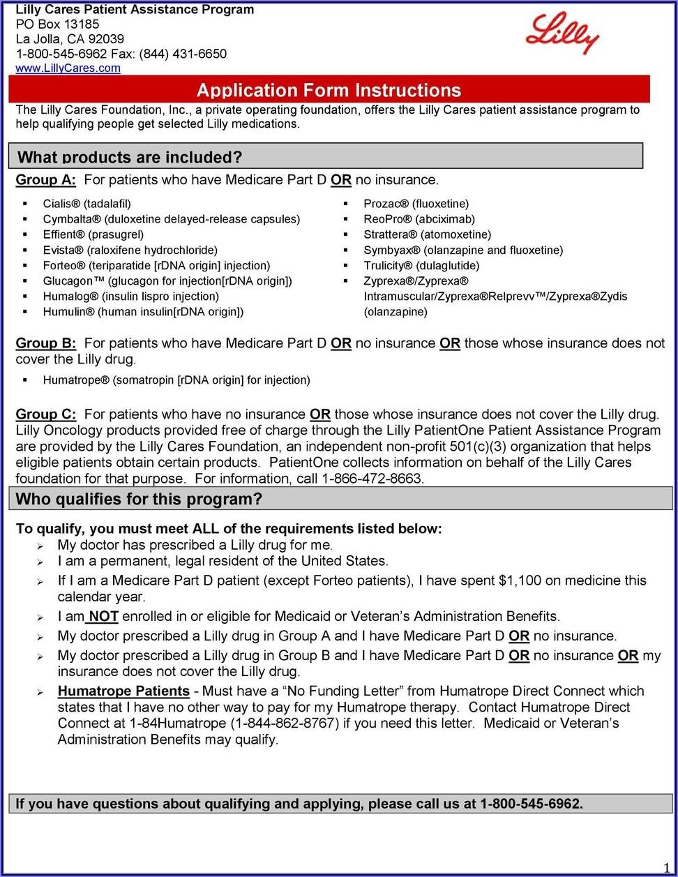 Humalog Patient Assistance Application Form