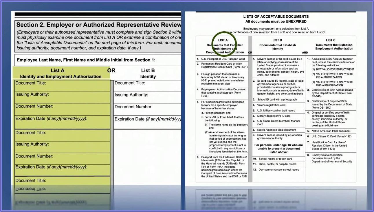 I 9 Forms 2020 Printable