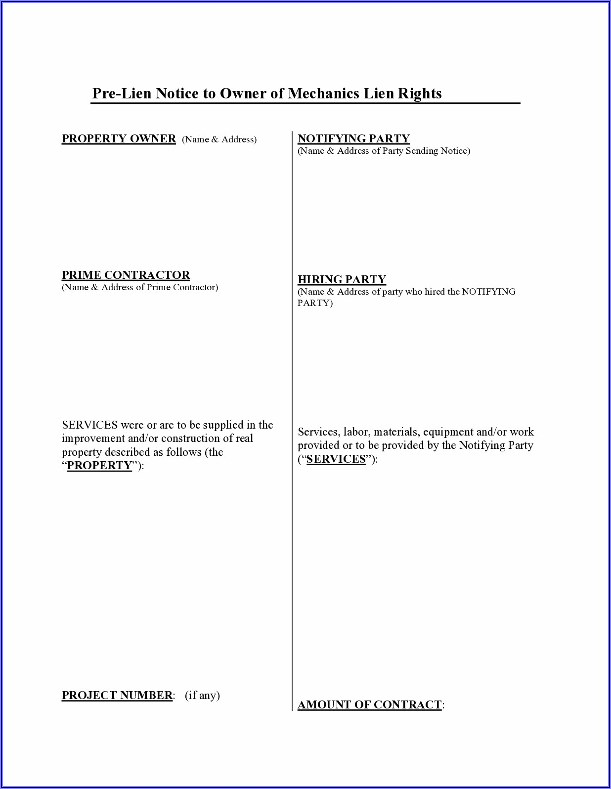Indiana Construction Lien Forms
