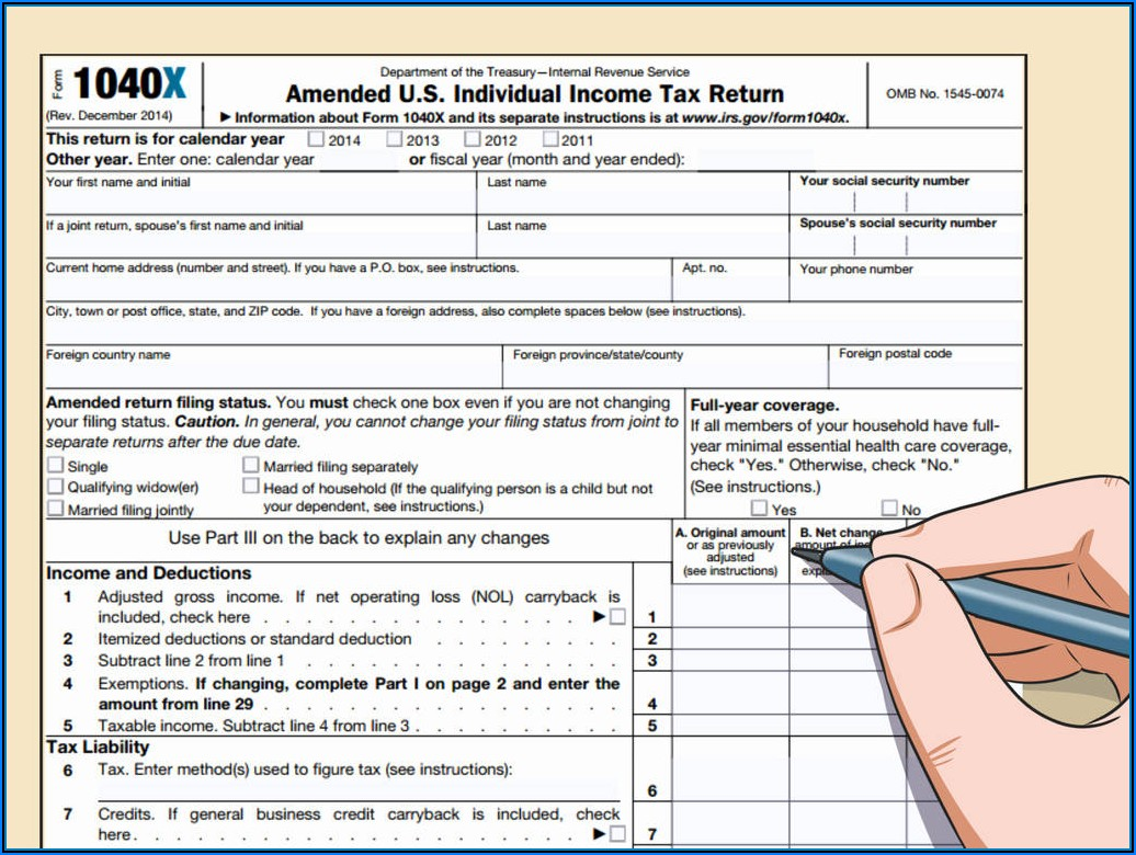 Instructions For Form 1040ez