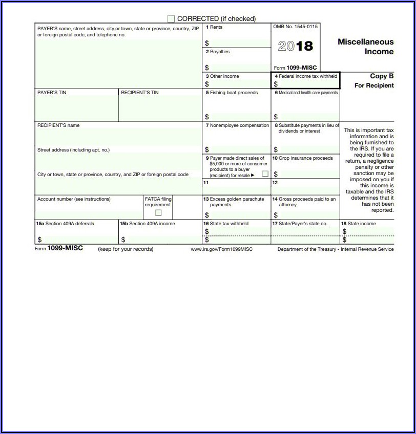 Irs.gov Form 1099 Misc 2018