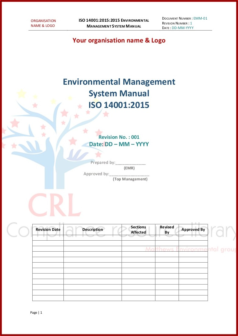 Iso 14001 Version 2015 Template