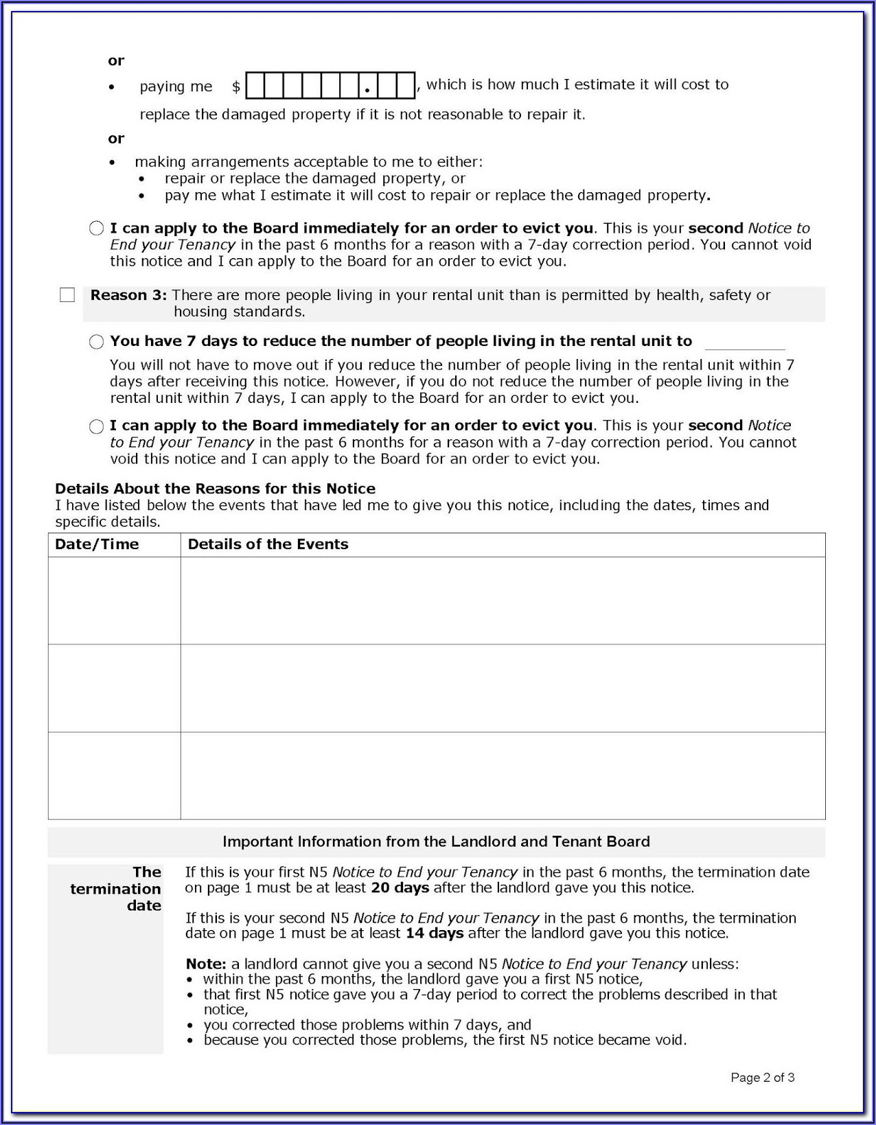 Landlord And Tenant Act Ontario Canada Forms