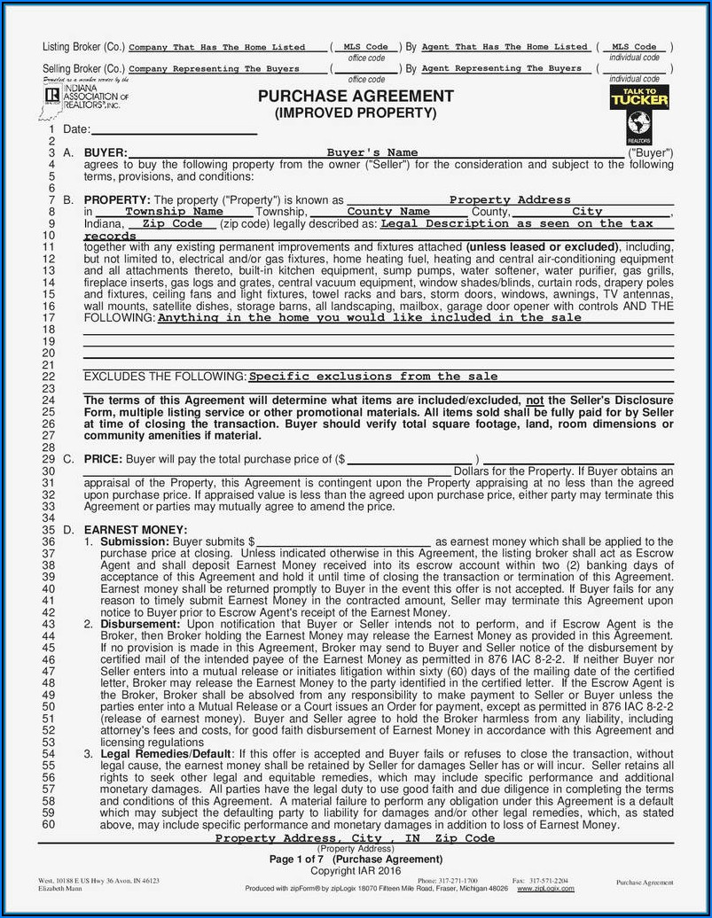 Lease Purchase Agreement Form Free