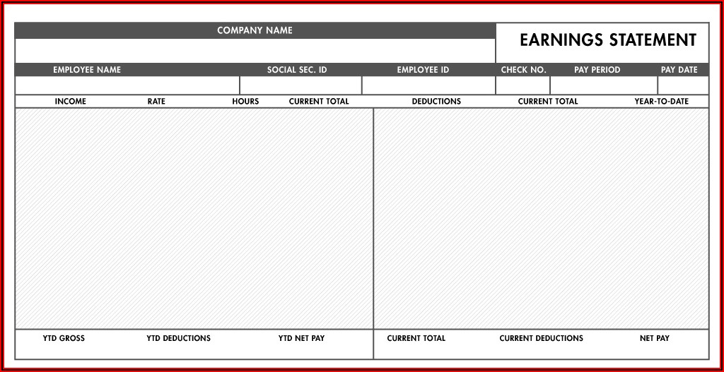 Make Pay Stubs Templates Free