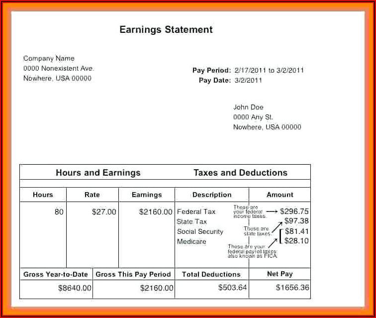Make Paycheck Stubs Templates Free