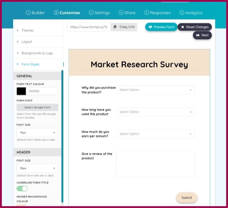 Market Research Survey Examples