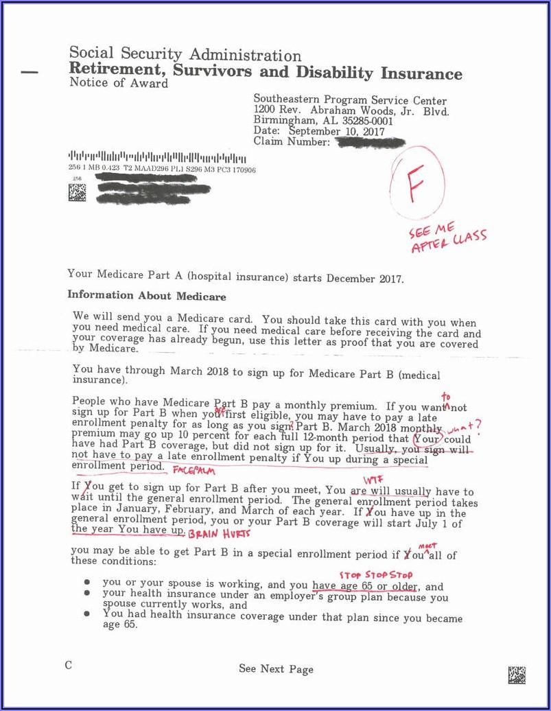 Medicare Part B Form Cms L564