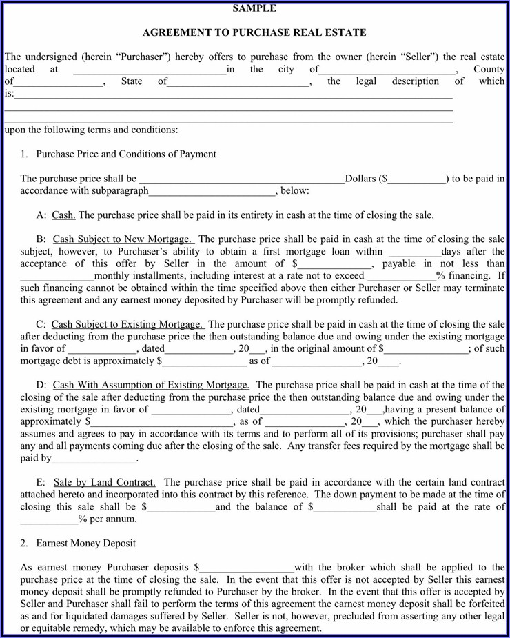 Memorandum Of Land Contract Michigan Form