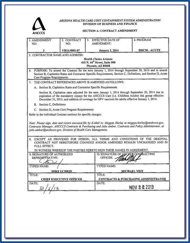 Miller Trust Form Arizona