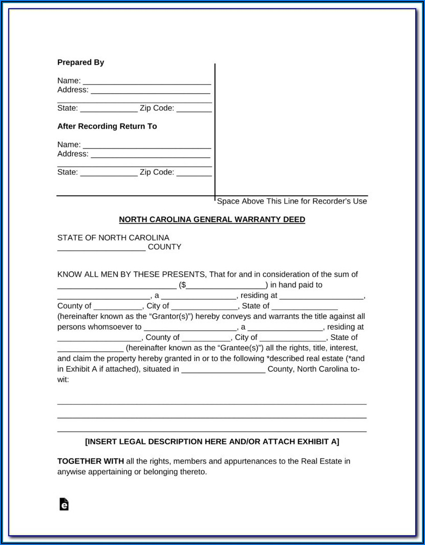 North Carolina Bar Form Deed Of Trust
