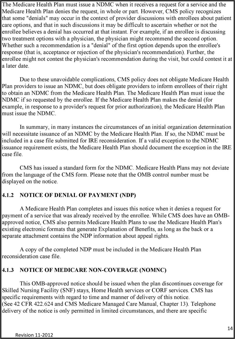 Notice Of Medicare Non Coverage Form For Home Health
