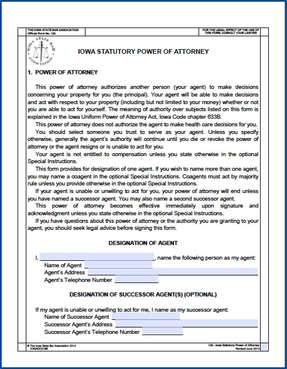Oklahoma Statutory Durable Power Of Attorney Form