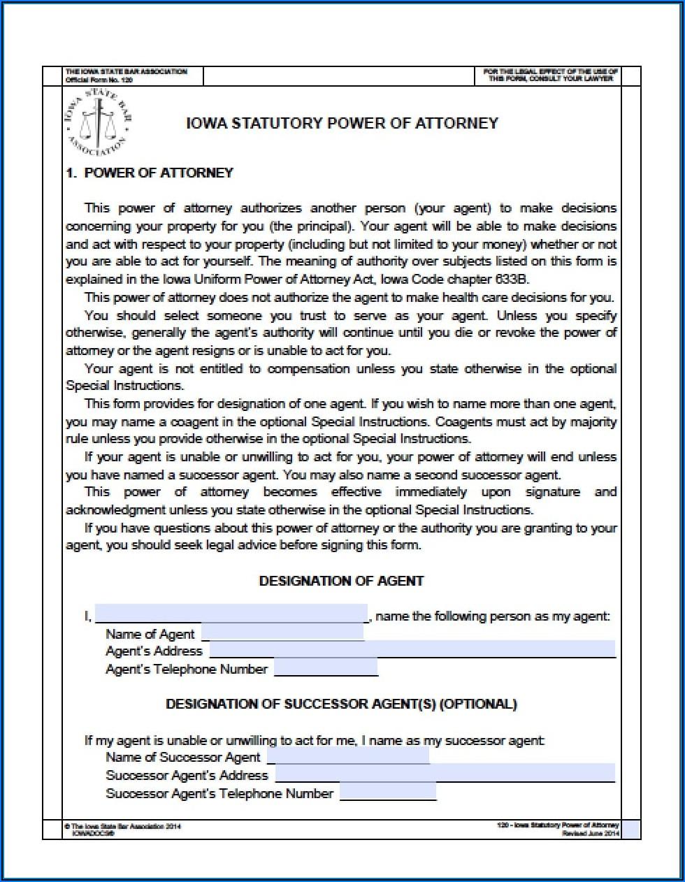 Oklahoma Statutory Durable Power Of Attorney Form