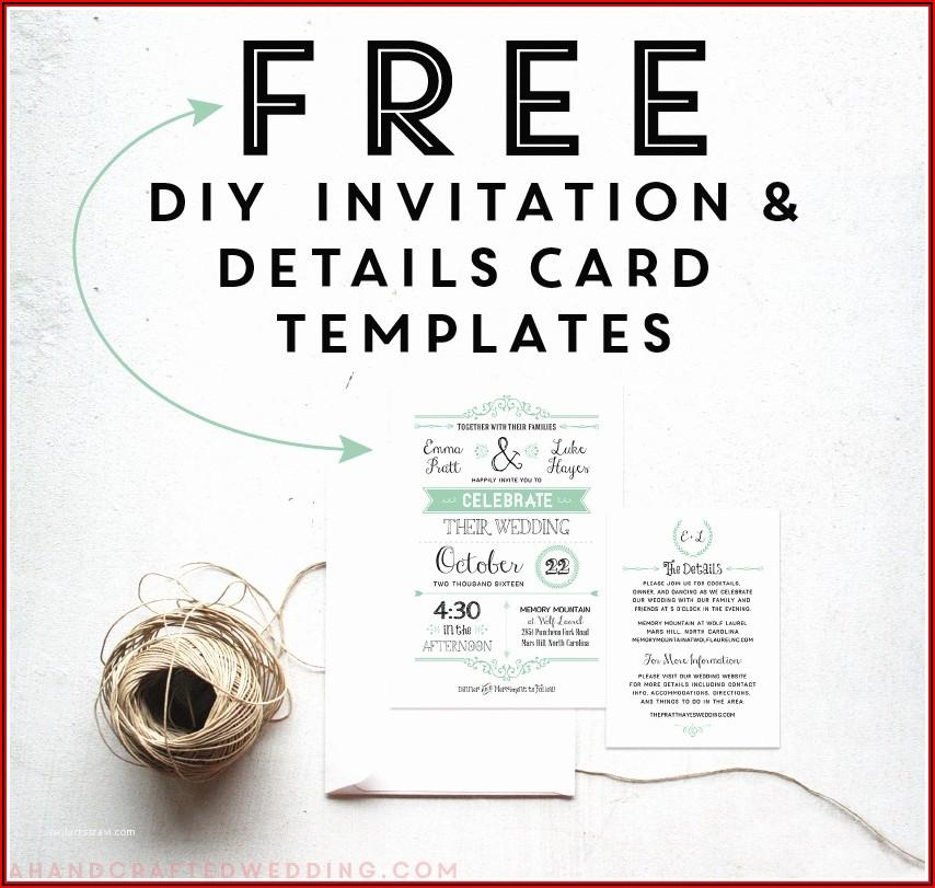 Online Editable Wedding Invitation Templates Free Download