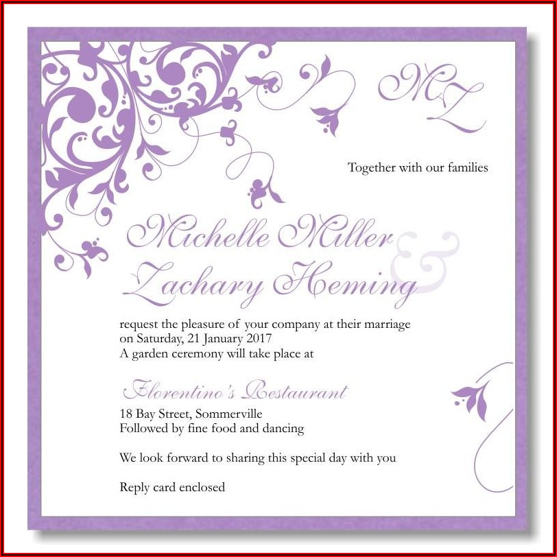 Online Wedding Invitation Templates Free Download