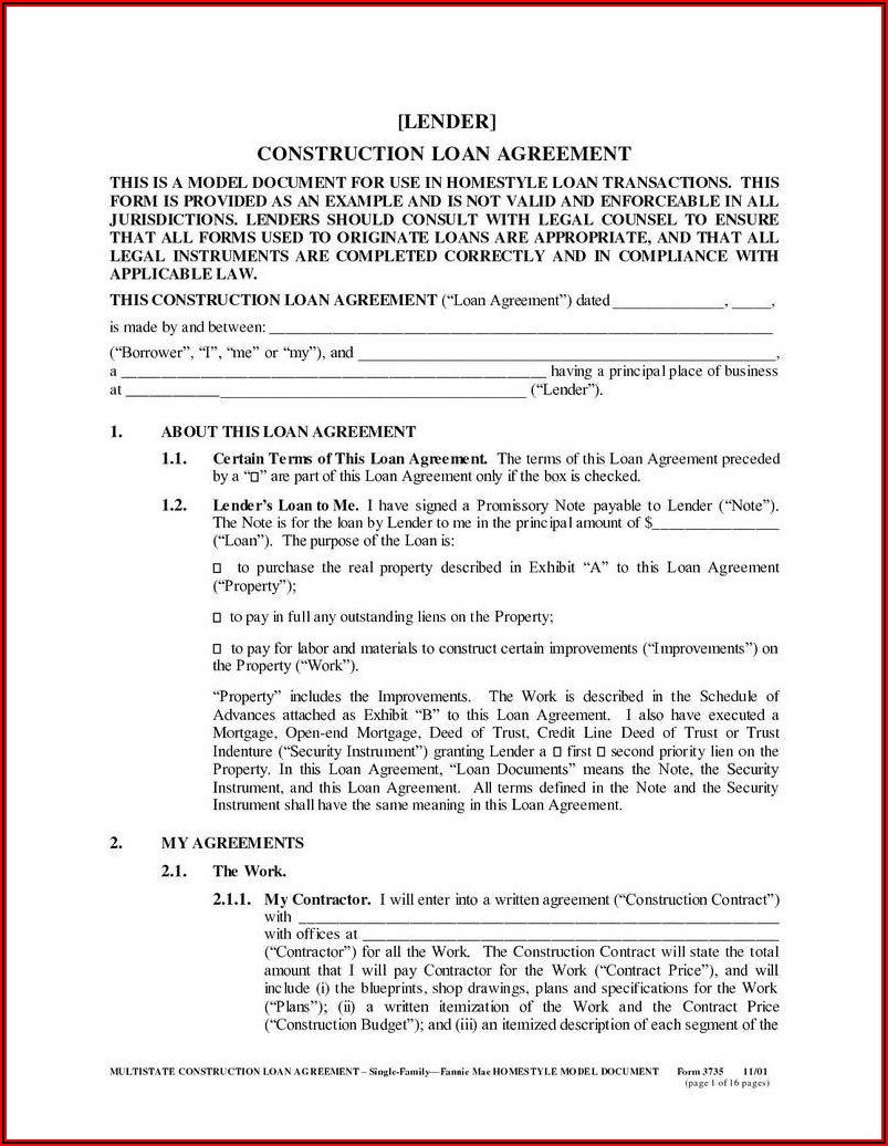 Personal Loan Agreement Template Word