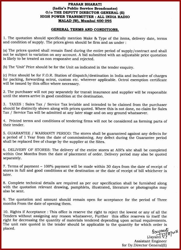 Pest Control Service Agreement Format