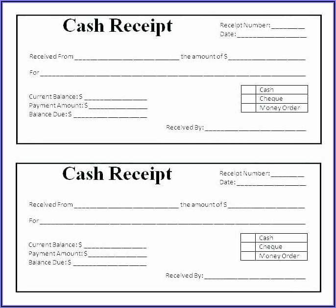 Petty Cash Receipt Form Template