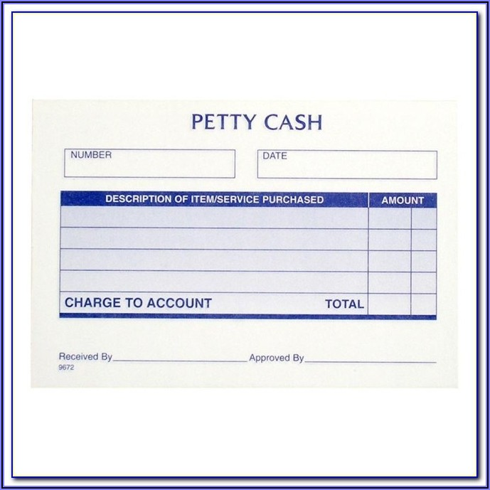 Petty Cash Receipt Format