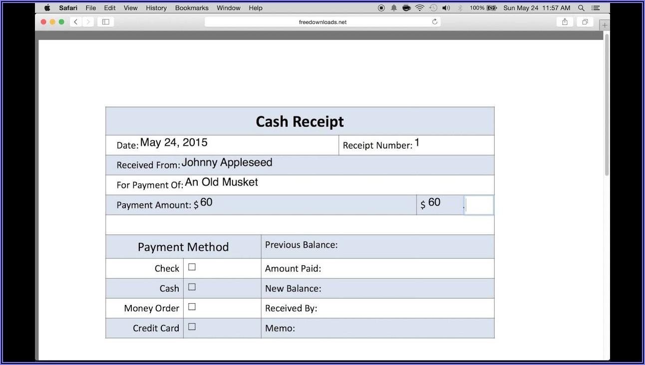 Petty Cash Receipt Voucher Format