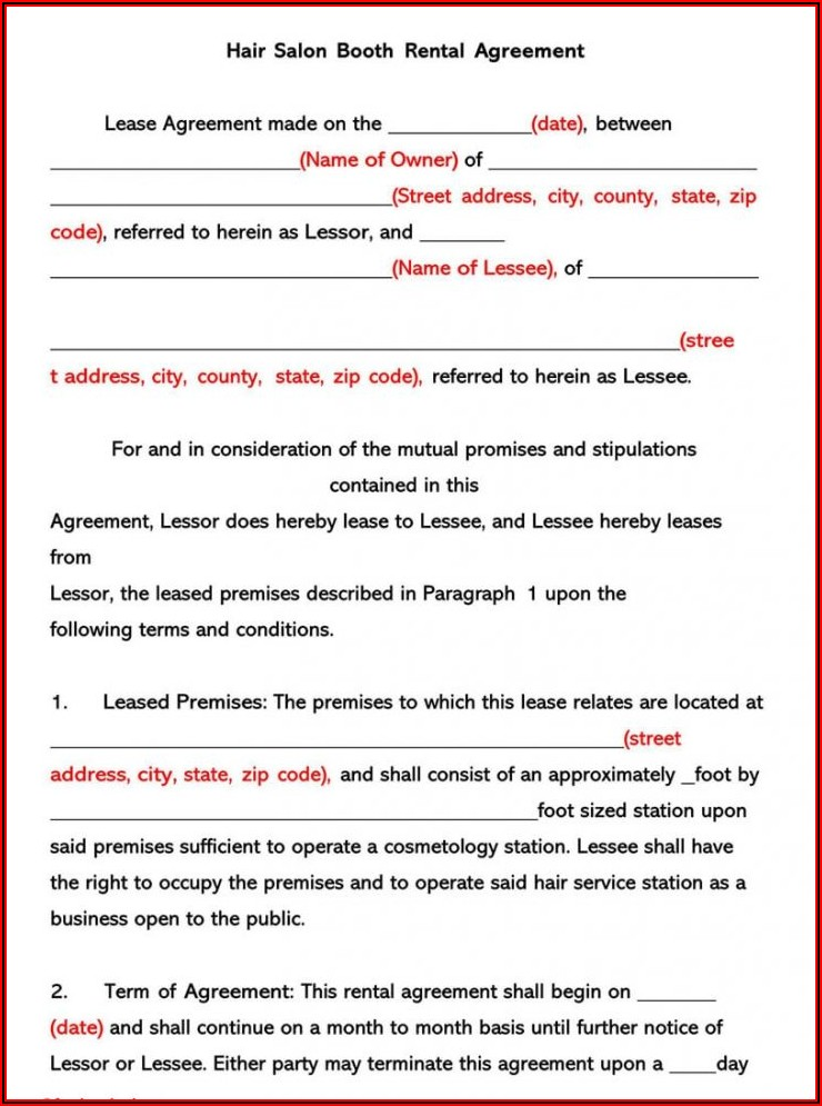 Photo Booth Rental Contract Template