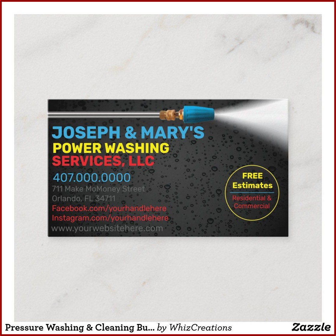 Power Washing Business Card Templates