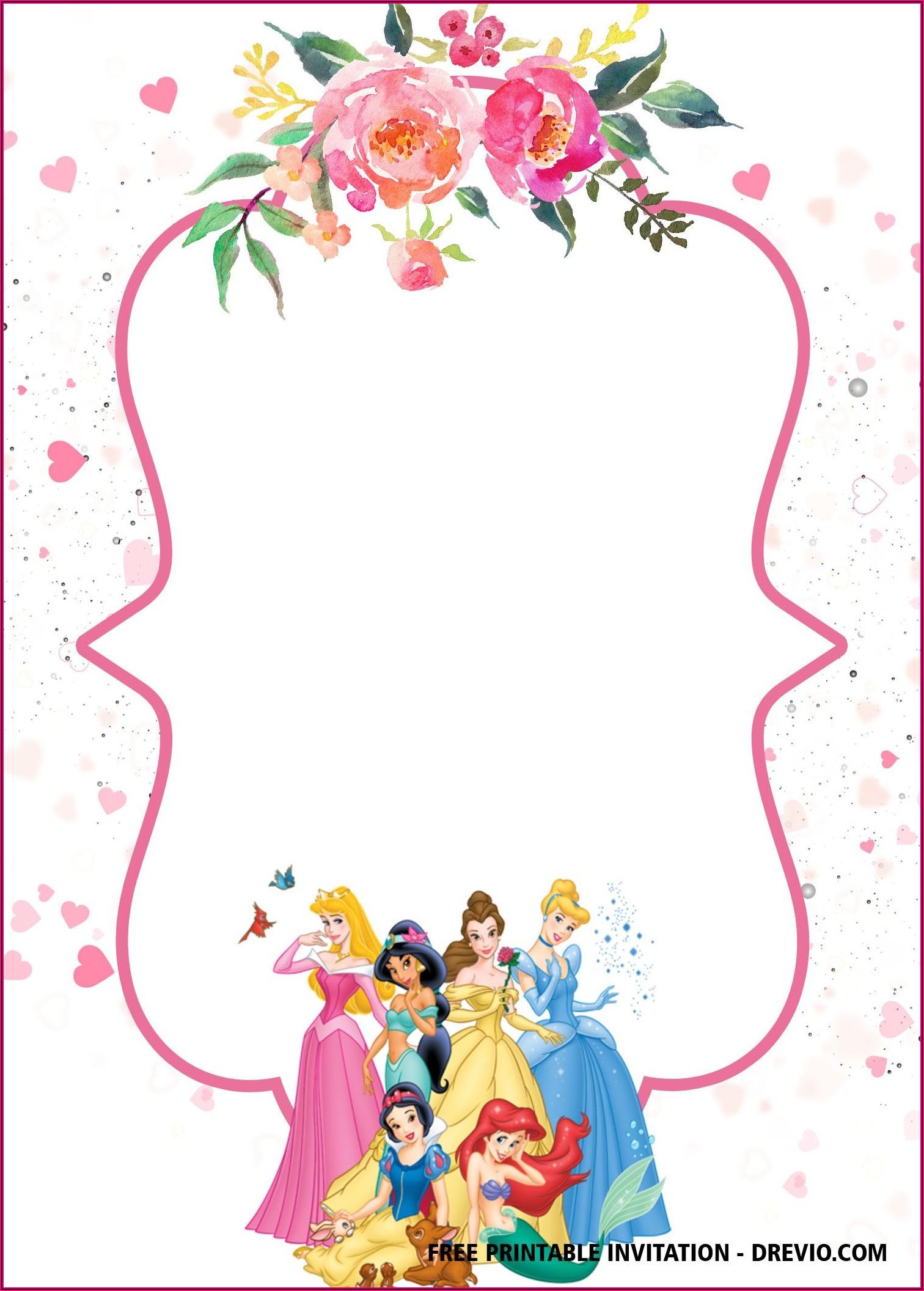 Princess Birthday Template