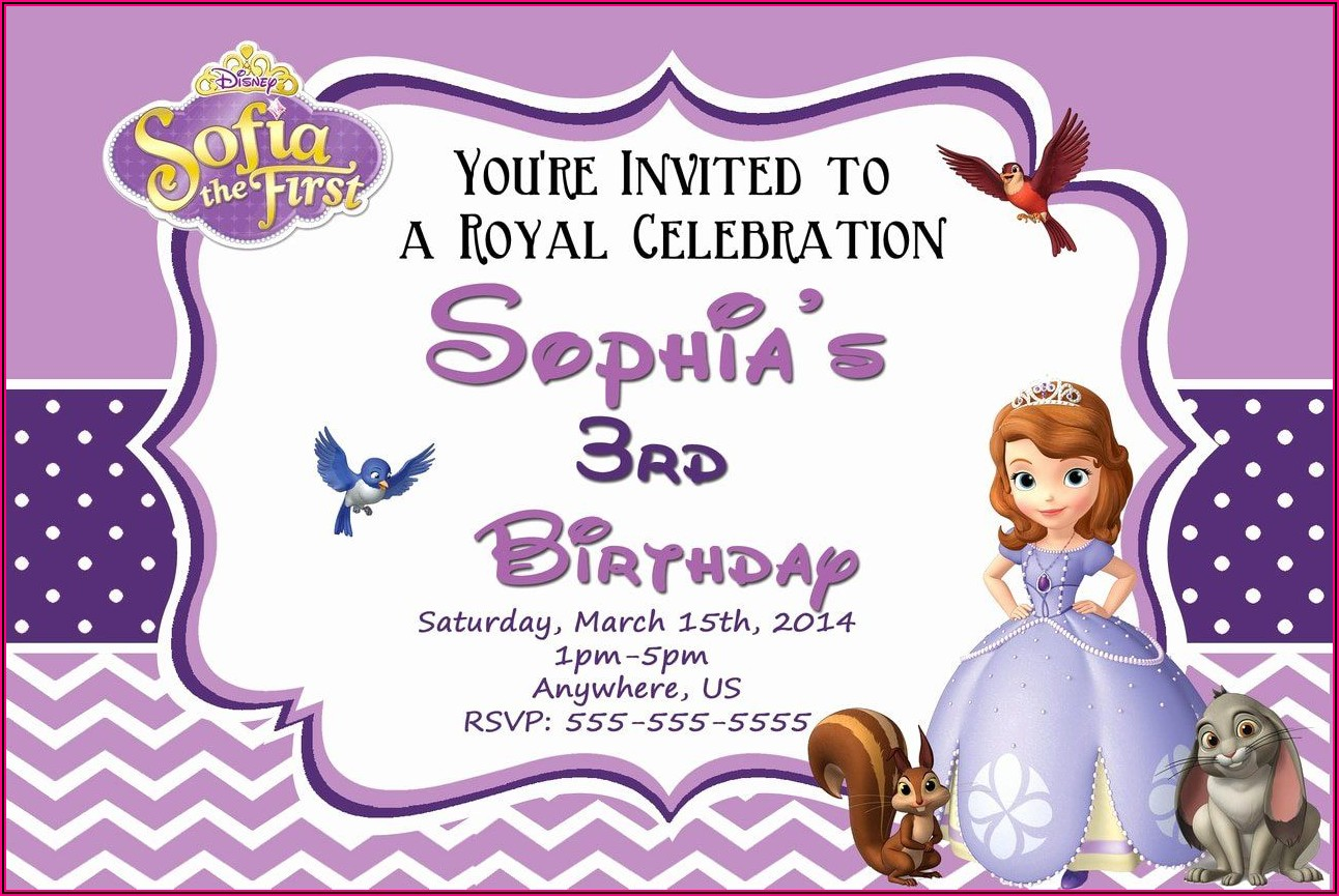 Princess Sofia Birthday Template