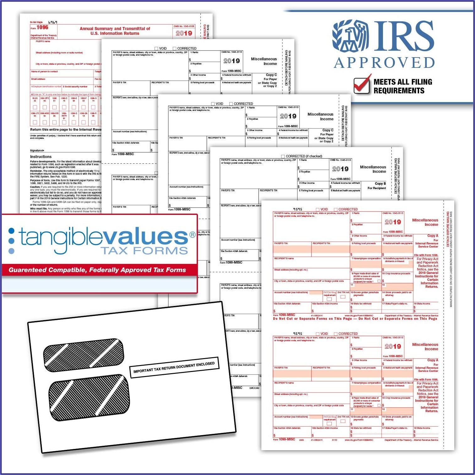 Printable 1096 Form 2018 Irs