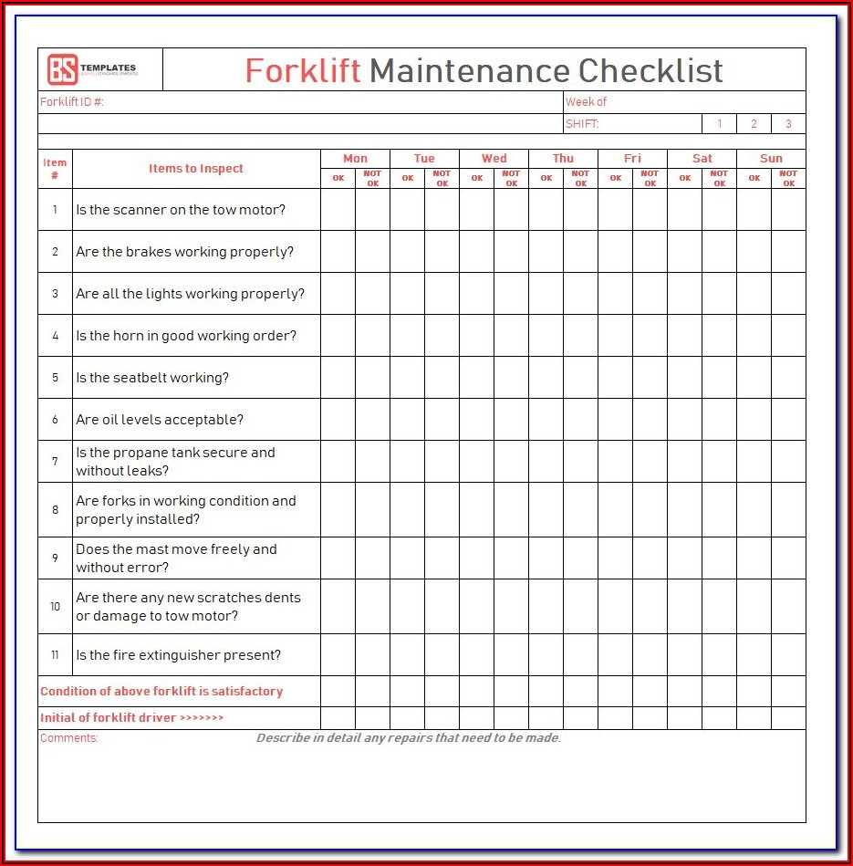 Printable Forklift License Template