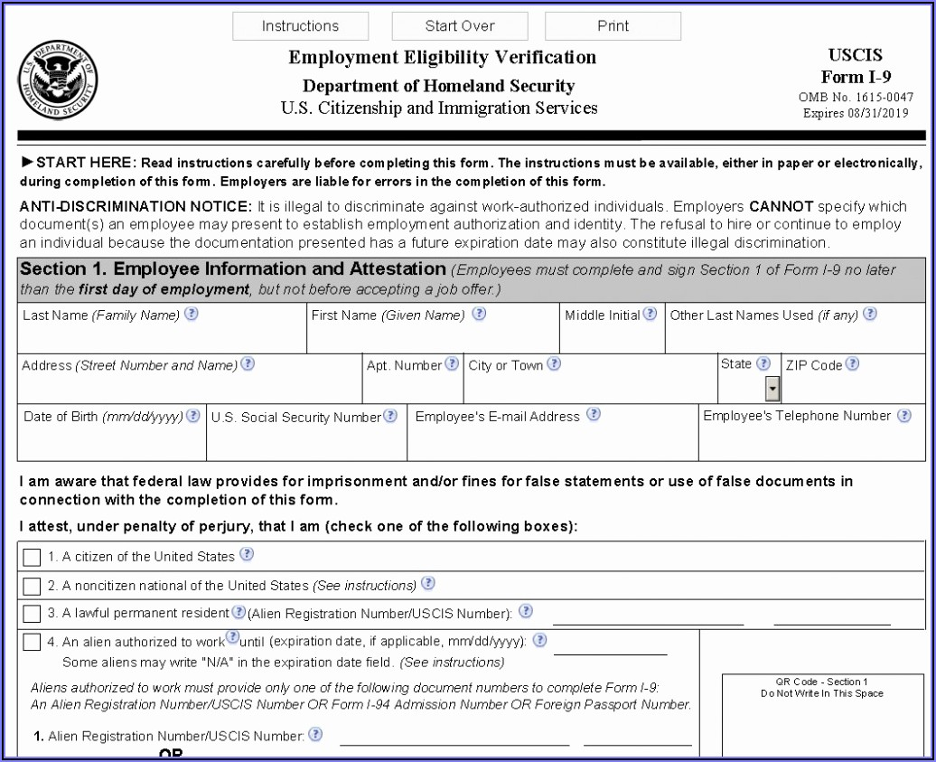 Printable I 9 Forms For 2019