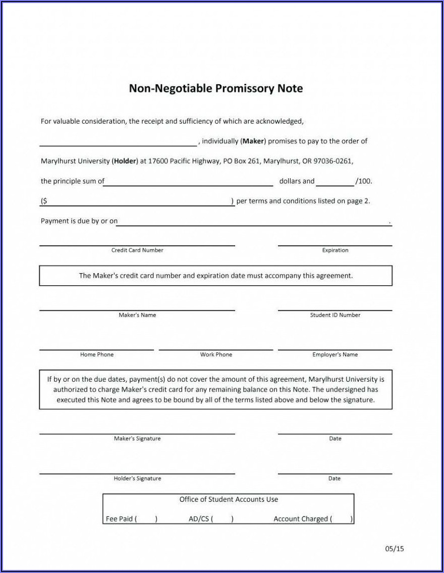 Promissory Note Format Indian Law Doc