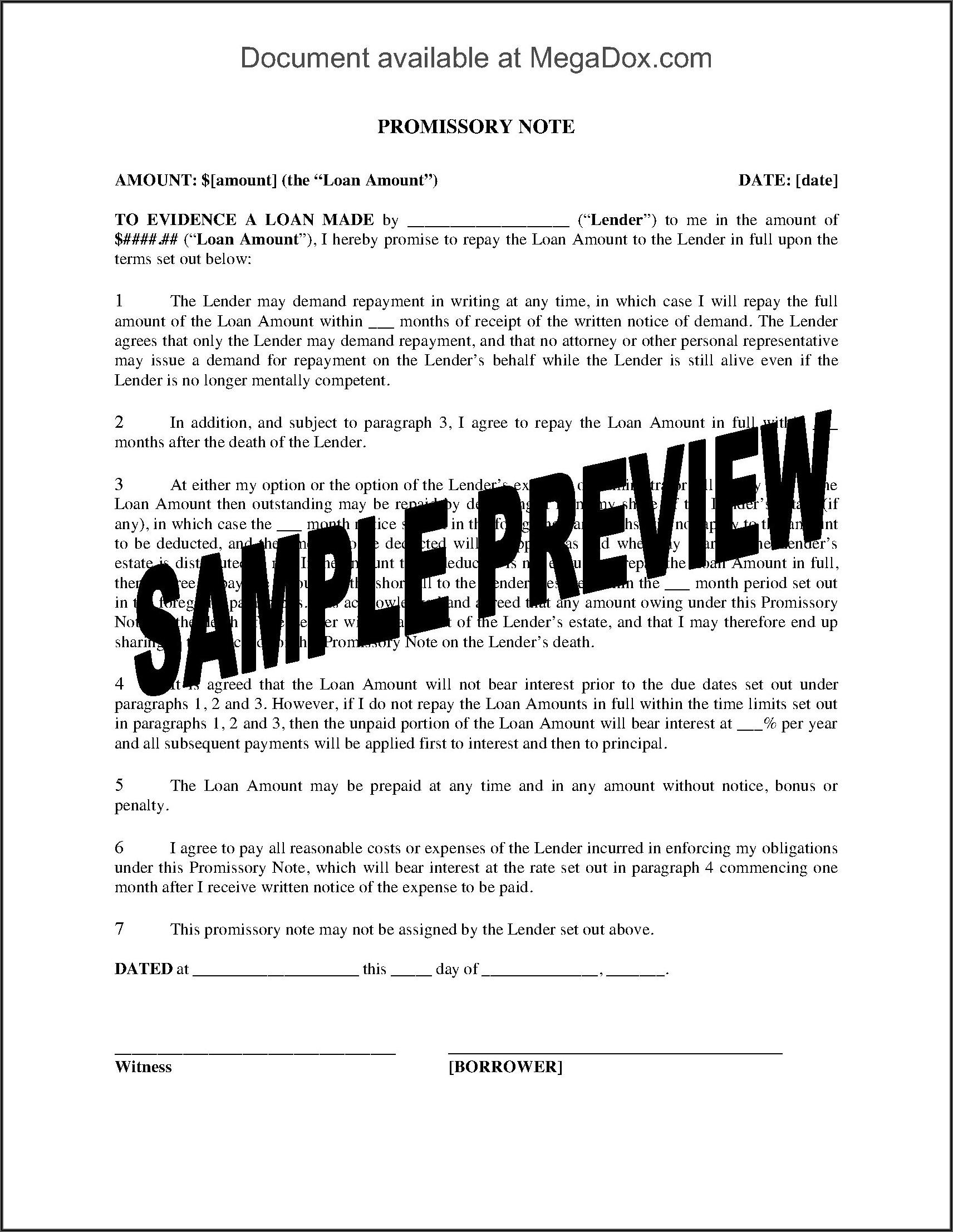 Promissory Note Template Utah