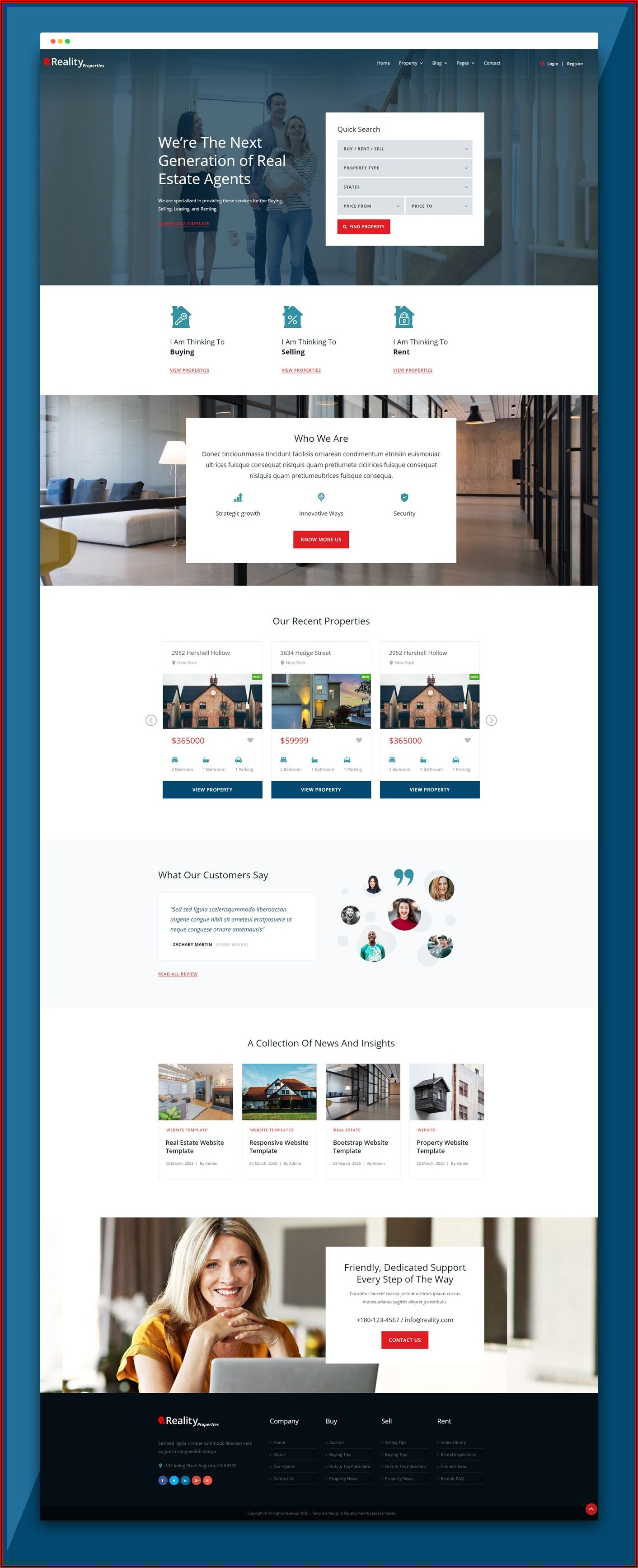 Real Estate Classifieds Templates