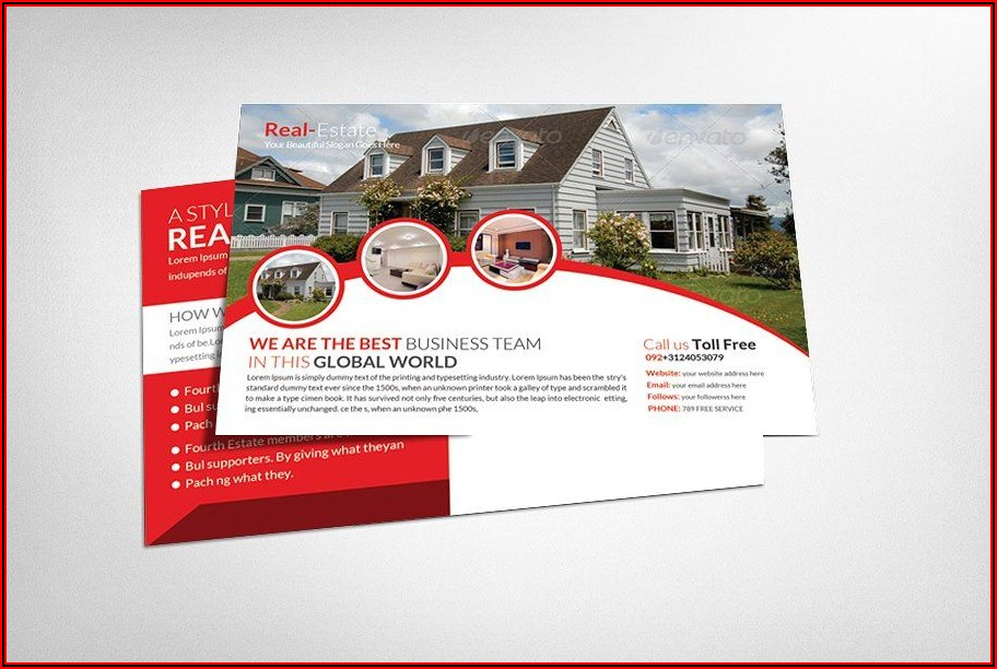 Real Estate Marketing Postcard Templates