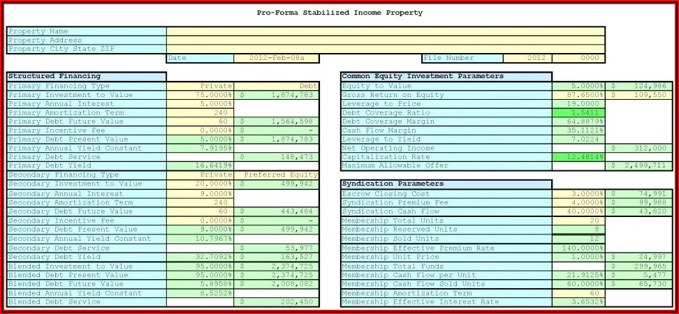 Rental Property Depreciation Template