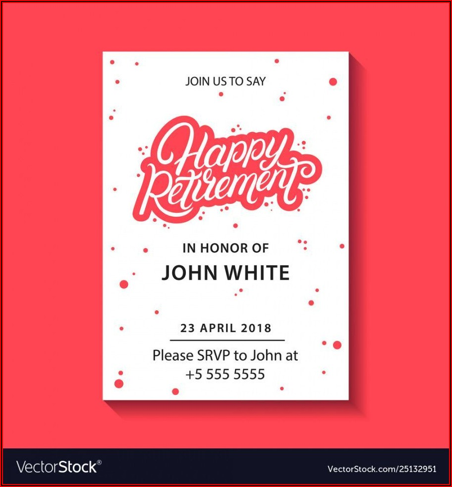 Retirement Announcement Flyer Template Free
