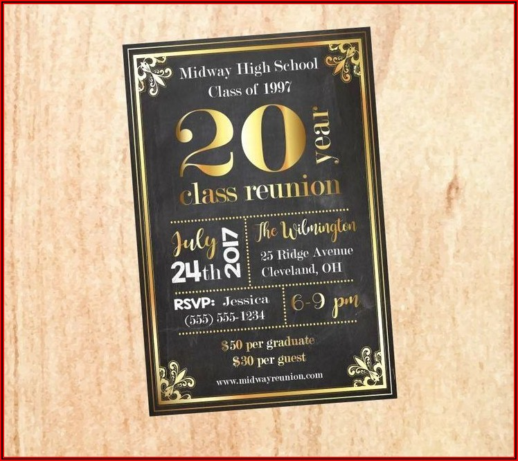 Reunion Invitation Template Free